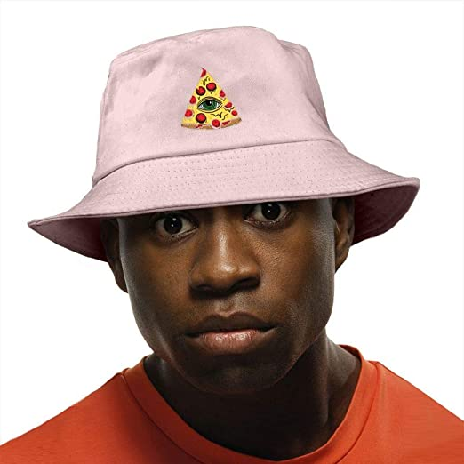 Illuminati Pizza Bucket Hat Summer Fisherman Cap Foldable