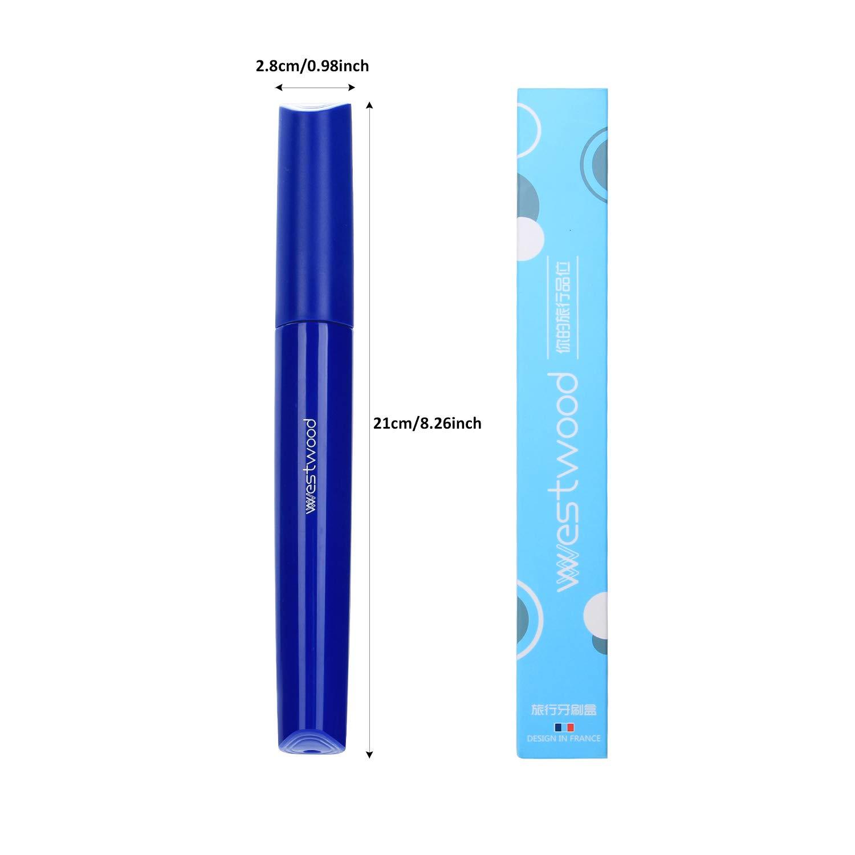 Blu Astuccio spazzolino Viaggio Plastica Portaspazzolino Case Antibatterico Design traspirante Plastica Case Toothbrush Holder tubo Proteggere per Casa Ufficio Bagno