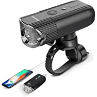 shenkey Bike Lights USB Rechargeable [2018 Updated] Bicycle light + Power Bank(4000mAh / 1000 Lumen), Super Bright IP65 Waterproof Headlight for Bike/Flashlight