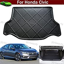 Car Boot Pad Carpet Cargo Mat Trunk Liner Tray Floor Mat For Honda Civic 2016 2017 (not fit for civic coupe touring modal)