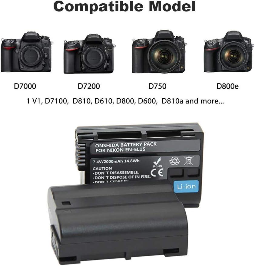 2x BATERIA 2000mAh para Nikon D7500