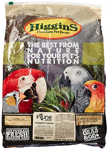 HIGGINS 466251 Higg Intune Food for Conure/Cockatiel, 18-Pound by Higgins
