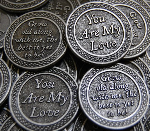 Set of 10 You Are My Love Pocket Token Coins