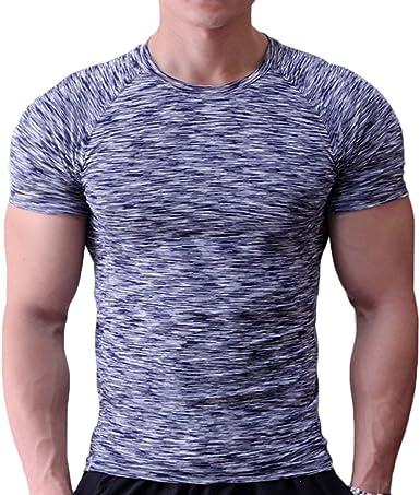 Muscle Alive - Camiseta ajustada para hombre, cuello redondo ...