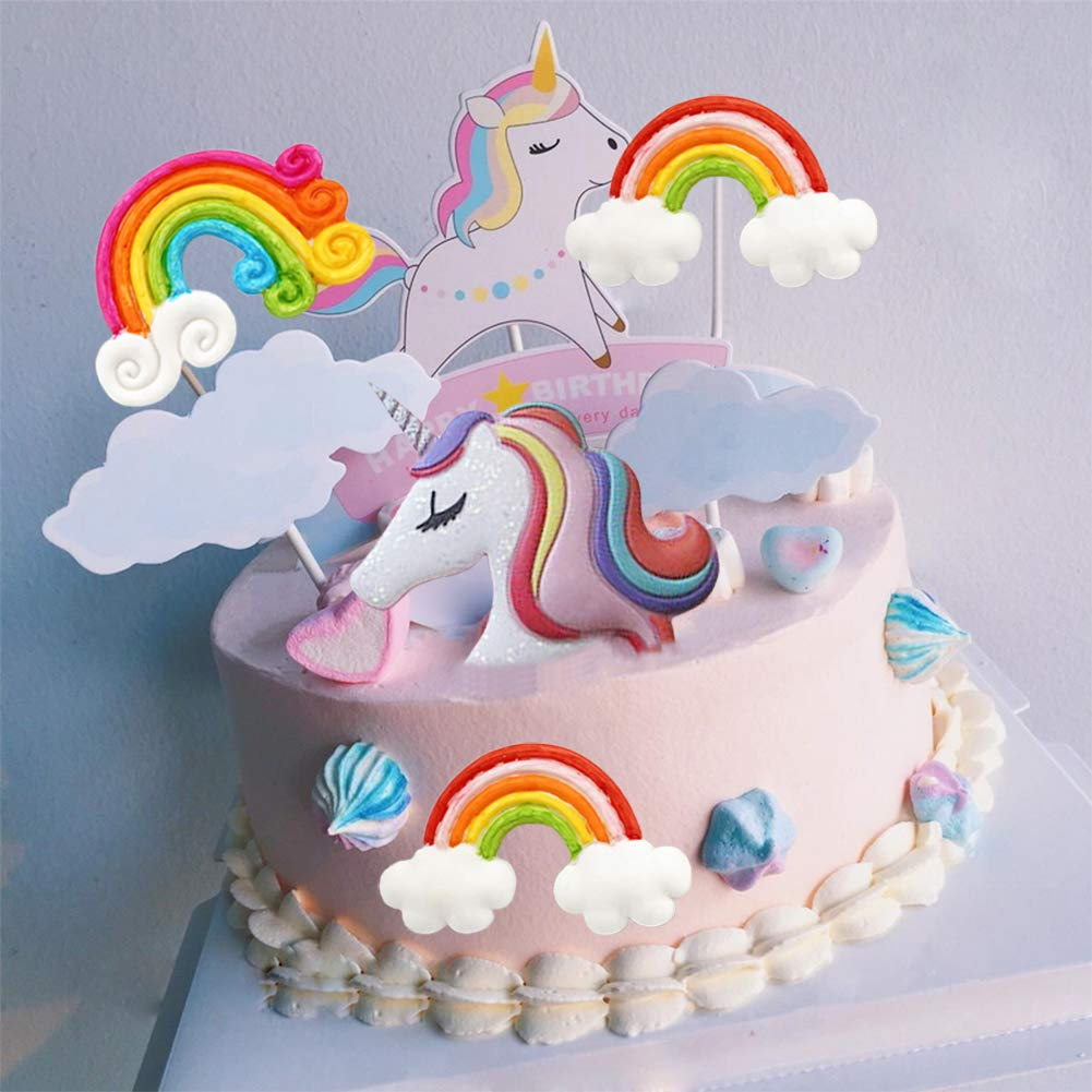 3D Unicorn Head Rainbow Cloud Silicone Fondant Molds for DIY Baking Pastry Sugar Craft Cake Decoration Tools Mity Rain Rainbow Unicorn Mold