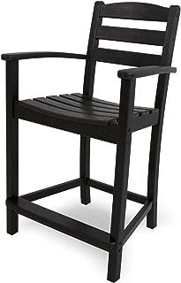 product image for POLYWOOD TD201BL La Casa Café Counter Arm Chair, Black