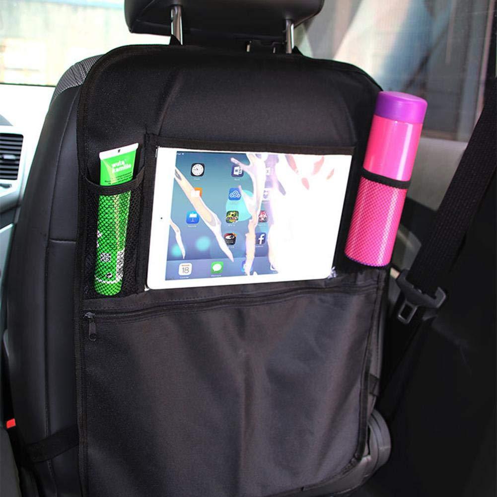 Almohadilla de protecci/ón del Respaldo del Asiento del autom/óvil Bolsa de Almacenamiento de iPad con Funcionamiento t/áctil de PVC Dynamicoz Organizador del Asiento Trasero