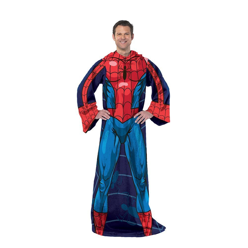 Amazon.com: Northwest Marvel, Spiderman, Blue on Blue 48-Inch-by-71 ...