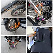 Multi Function Anti-theft Rope Stretched Thin Steel Wire Rope Clothesline for Bike Bicycle Luggage Lock Padlock 1.2 M