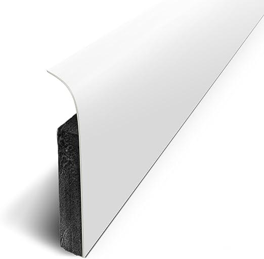 HOLZBRINK Plinthe Souple Blanche Plinthe Cass/ée PVC 25 m 100x25 mm