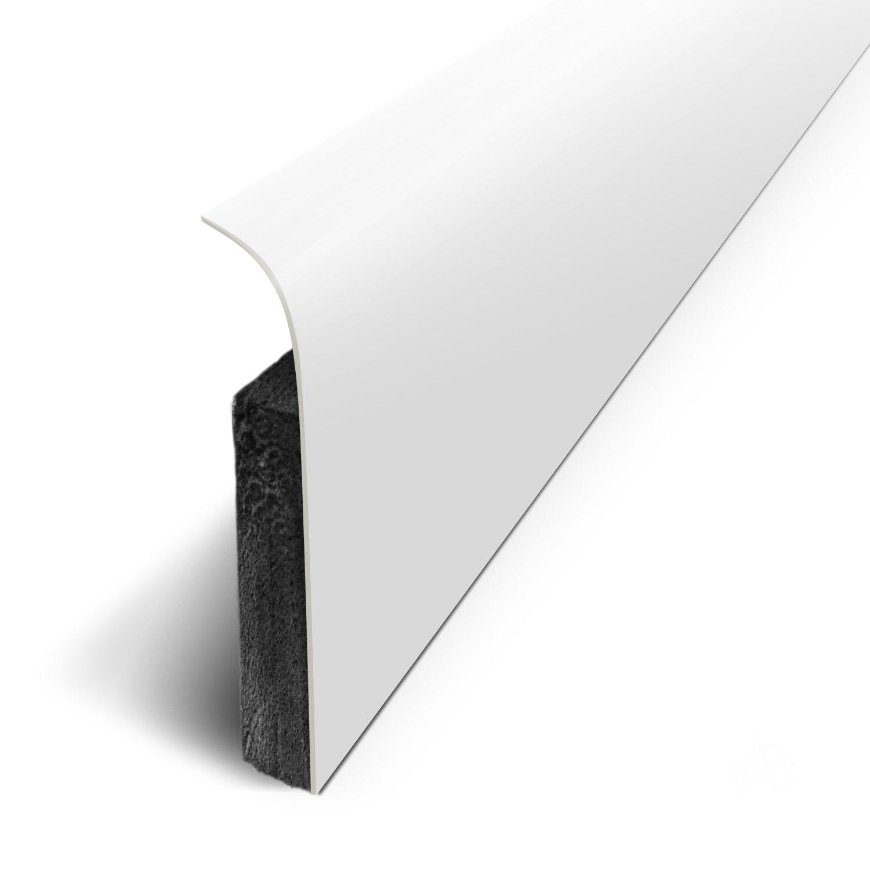 Sockelleisten 5 St/ück D180532D selbstklebend mit 3M-Klebeband wei/ß 120/x 70/cm