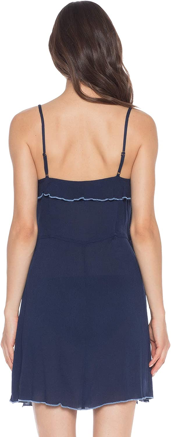 ISABELLA ROSE Womens Crinkle in Time Wrap Tank Dress Swim Cover Up