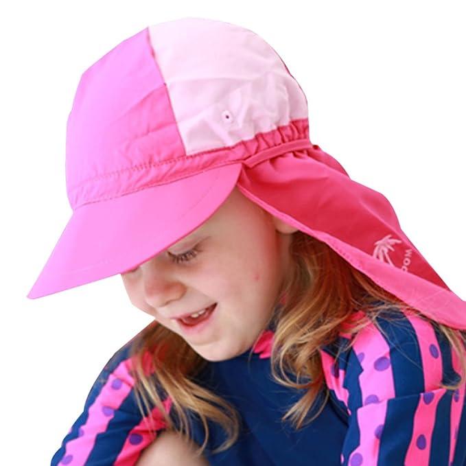 Bambini Cuffia Da Nuoto Cappello Spiaggia - Bambine Cappello Da Sole Estate Berretto  Protezione Solare Cappello Lembo Cap Shark berretto Bambino Canottaggio ... 0a8b8a5eb2b3