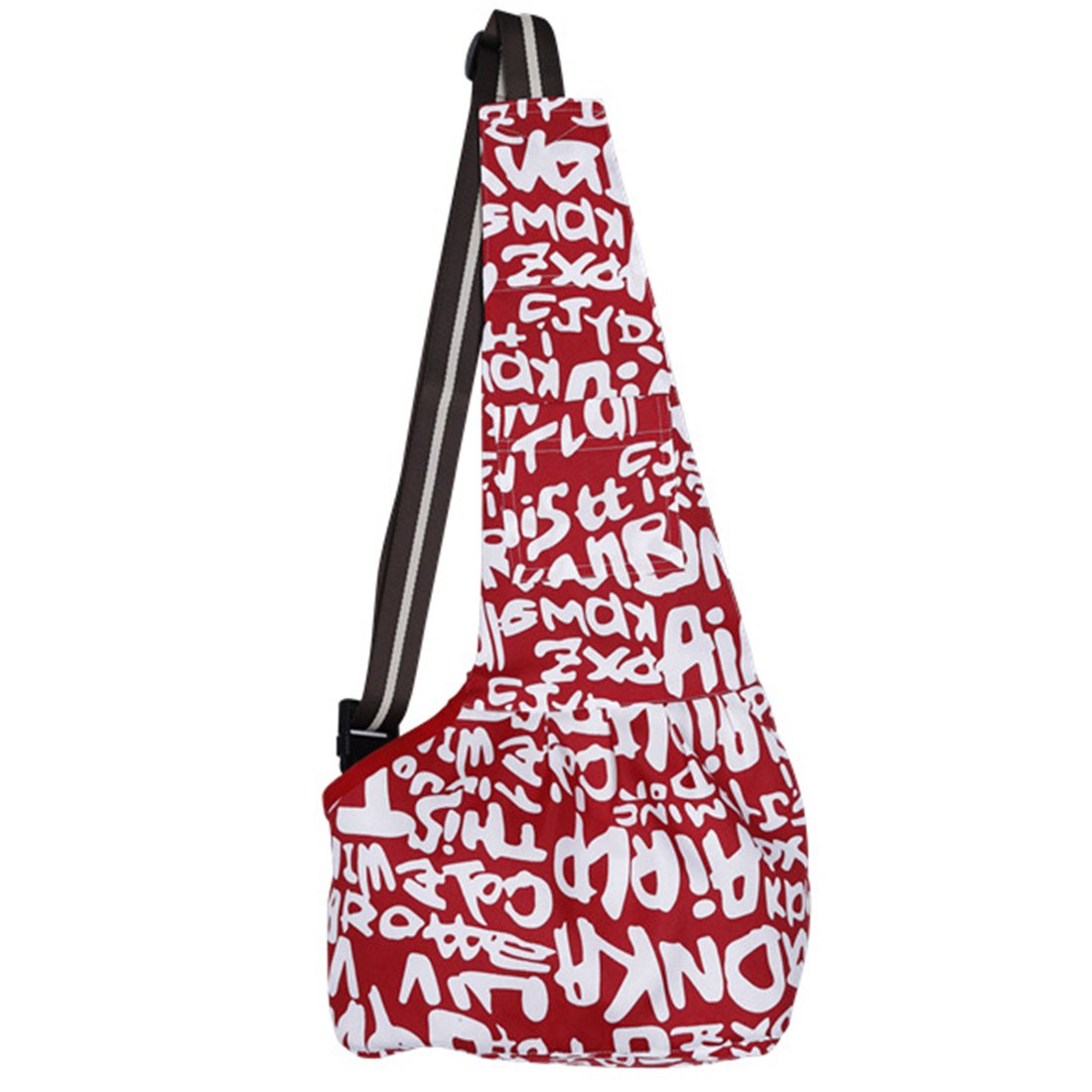 Lanpet Pets Travel Sling Dog Cat Single Shoulder Bag Outdoor Carrier Bag Oxford Fabric S01 (Medium, Red Letters) by Lanpet (Image #1)