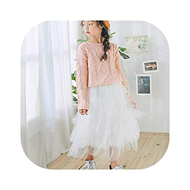c4a5f6104fa Amazon.com  Girls Long Skirt Baby Tulle Ball Gown Kids Beautiful Skirts  Fashion Child Party Casual Long Skirts in Spring Autumn Size 2-13T