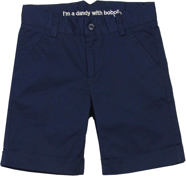 Sizes 4-16 Boboli Boys Dress Chino Shorts in Navy