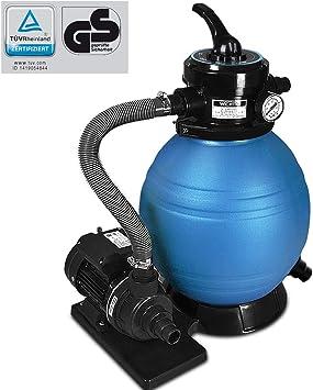 Deuba Depuradora Azul y Negro 10200 l/h bomba de filtro de arena ...