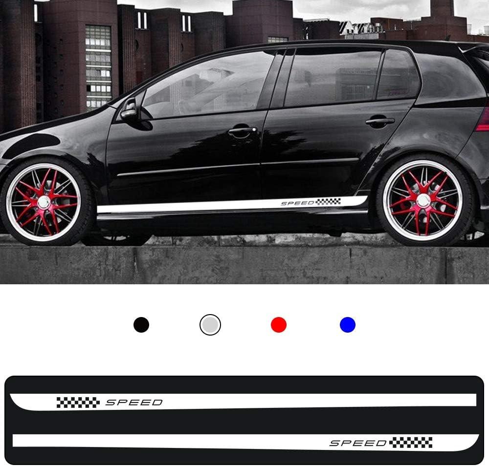 Cobear Auto Seitenstreifen Seitenaufkleber Aufkleber Für V Olkswagen Golf 7 Mk7 Rennstreifen Racing Decals Viperstreifen Weiß 2 Stück Auto