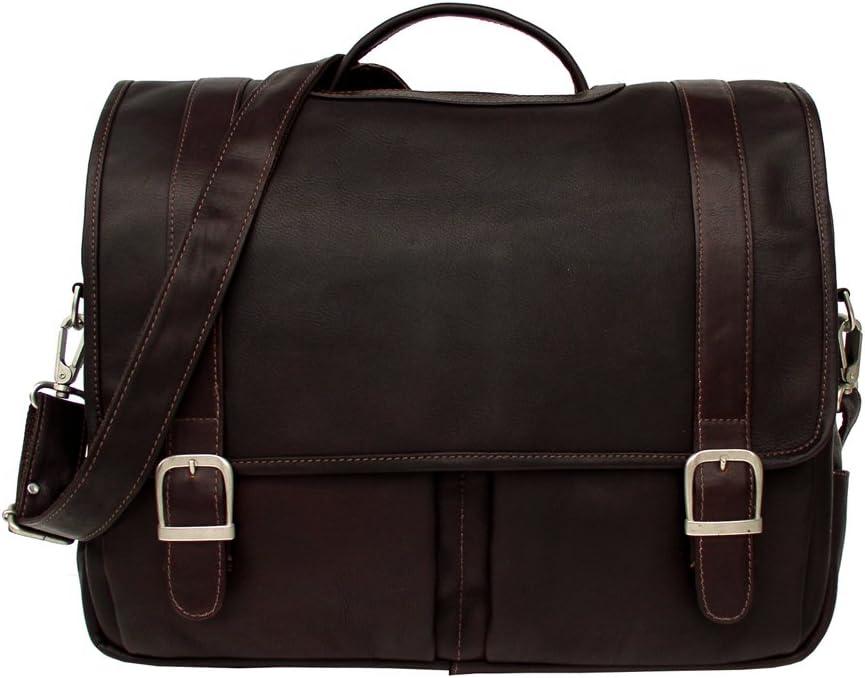 Chocolate Piel Leather Ultimate Organized Portfolio One Size