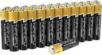 36-Pack Nanfu LR03 AAA Alkaline Batteries