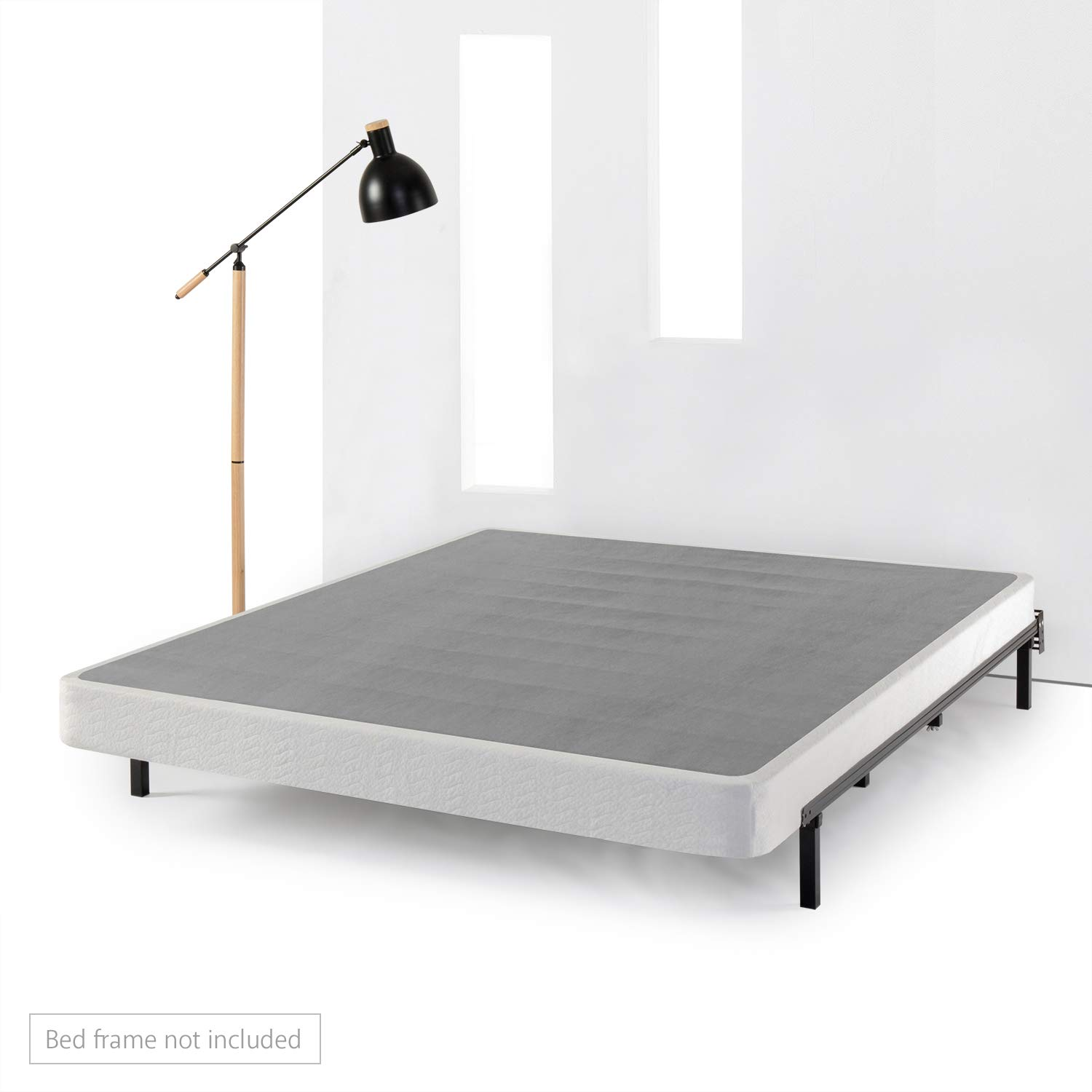Best Price Mattress Heavy Duty Steel Low Profile Box Spring/Mattress Foundation/Easy Assembly - 5 Inch, King, Gray/White