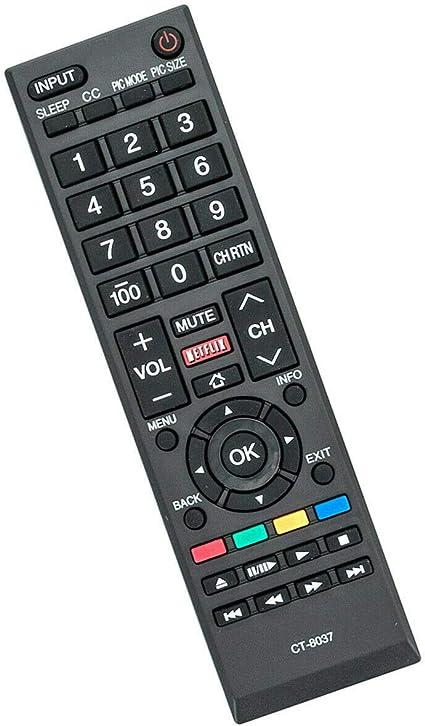 New Remote Control CT-8037 for Toshiba LCD TV 50L3400U 50L3400UC 58L5400 58L5400