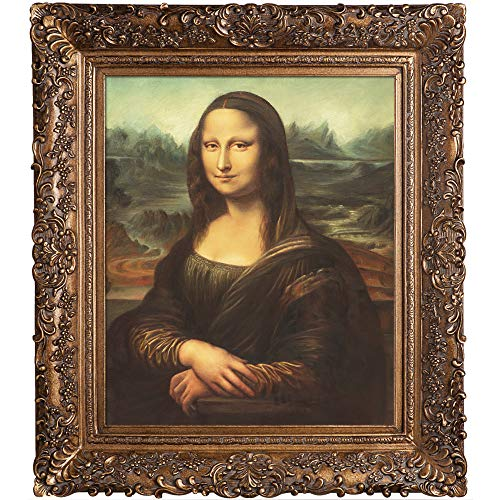 overstockArt Mona Lisa with Burgeon Gold Frame Oil