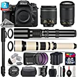 Holiday Saving Bundle for D7500 DSLR Camera + AF-P 70-300mm VR Lens + 650-1300mm Telephoto Lens + AF-P 18-55mm + 500mm Telephoto Lens + 2yr Extended Warranty + 32GB Class 10 - International Version