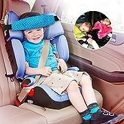 Sungrace Toddler Car Seat Baby Infant Sleeping Head Support, Safety Stroller Sleeping Belt, Kids and Baby Safety Car Seat Neck Relief Head Support Band Sleep Strap (Blue,Star)