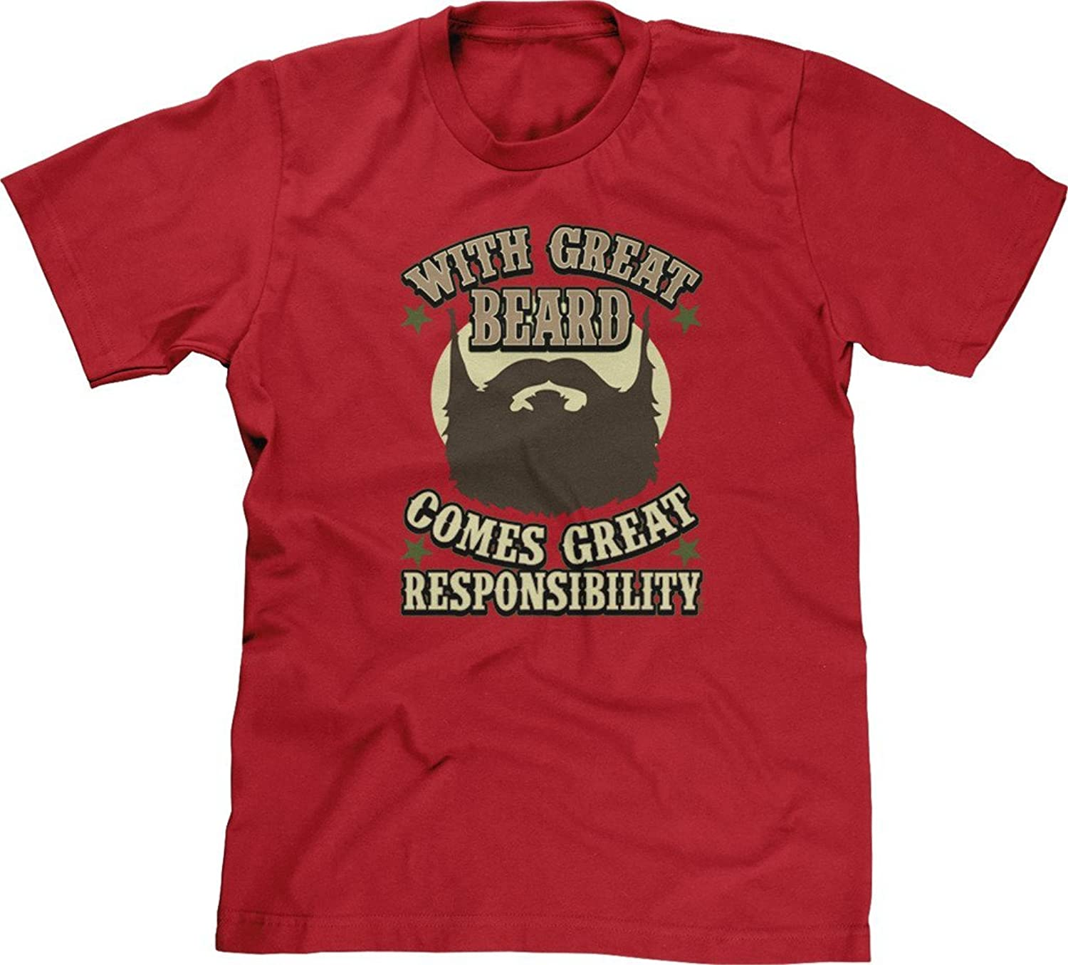 Blittzen Mens T-shirt With Great Beard Comes Responsibility