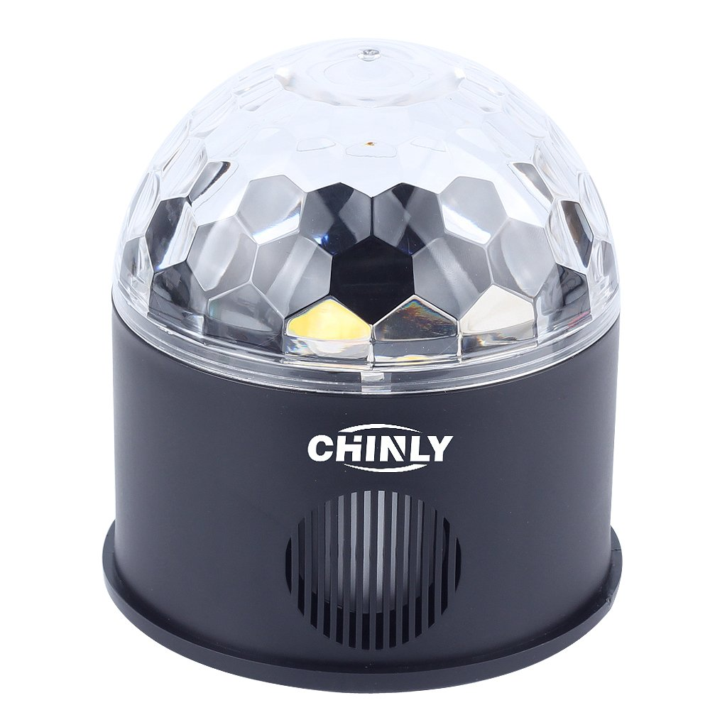 CHINLY LED Disco Ball Light MP3 Music Bluetooth Speaker USB Portable 9W 9color Modes Dance Hall Strobe Light Mini LED Stage Light Party Light for Wedding Party Bar Club DJ KTV (with Remote & US Plug) by CHINLY (Image #8)