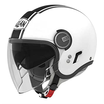 Amazon.com: Nolan N 21 Visor Duetto helmet-black-white-1-xl ...