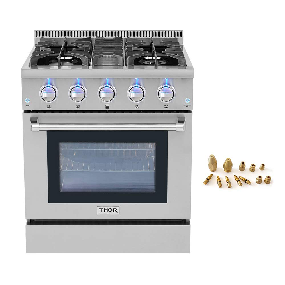 "30"" Thor Kitchen Free Standing 4 burner gas range + LP Conversion Kit bundle"