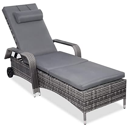 Amazon.com: allblessings Patio Pool Chaise Lounge - Silla ...