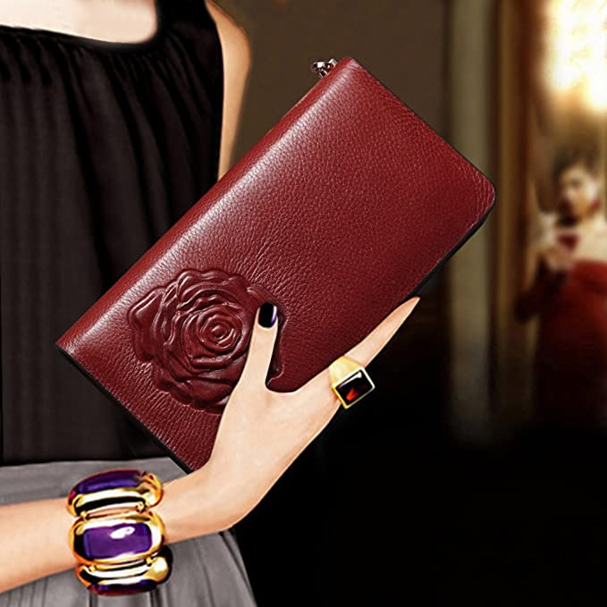 Amazon.com: Wallets Womens, fashion ladies hand long multi ...