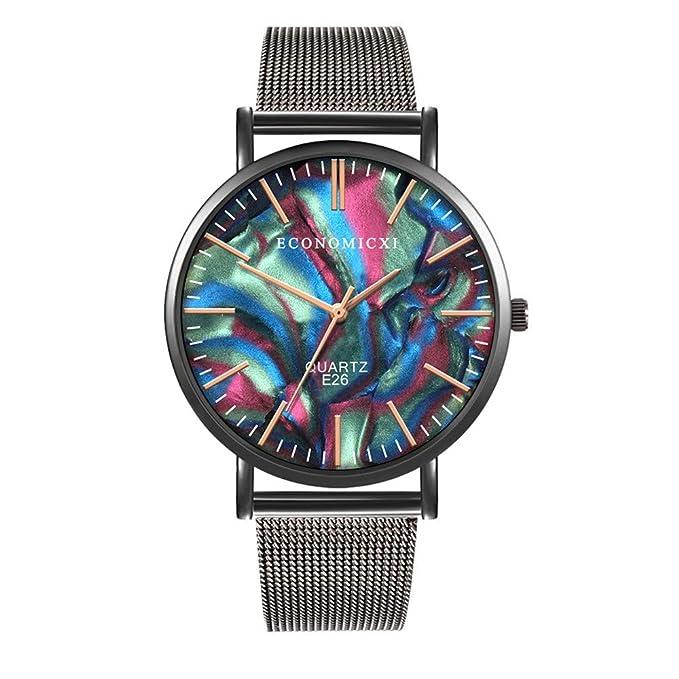 Coconano reloj de colores hombre reloj de hombre Reloj de cuarzo de aleación de acero inoxidable para hombres reloj hombre de colores: Amazon.es: Ropa y ...