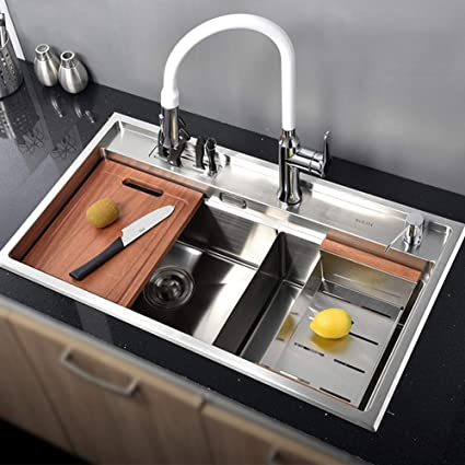 Amazon.com: Kitchen Sink Accessories, 820x450mm Sinks and ...