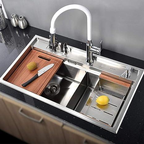 mDesign Set da 3 Tappetini per lavello cucina – Tre ...