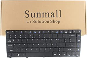 SUNMALL Keyboard Replacement Compatible with Acer Aspire 3810 4250 4253 4330 4738 4743 Series Laptop Black US Layout