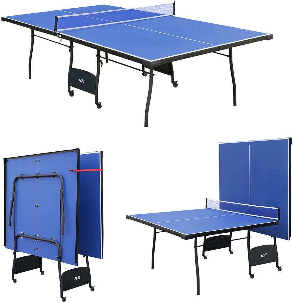 Jacks Household Mesa de PingPong Plegable y Ajustable, con Ruedas. Color Azul 274 * 152.5 * 76 cm Nuevo Modelo!: Amazon.es: Deportes y aire libre