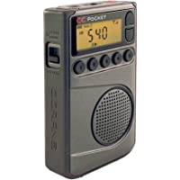 C. Crane Pocket Am Fm and NOAA Weather Radio with Clock and Sleep Timer
