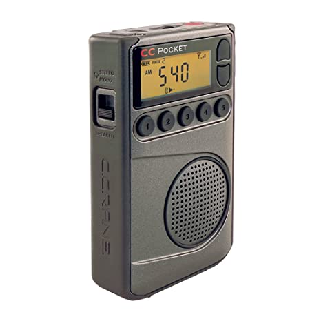 C  Crane CC Pocket AM FM and NOAA Weather Radio with Clock and Sleep Timer