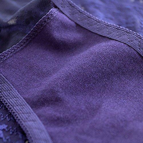 POKWAI Mujeres / Señoras / Muchachas / Ropa Interior Atractiva Del Cordón De La Cintura En Calientes Del Hilado Neto Breves Pantalones Señuelo Transparente La Caja De La Ropa Interior A2