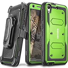COVRWARE HTC Desire 626 / 626s / 530 / 630 - [Aegis Series] Heavy Duty Dual Layer Hybrid Full-Body Armor Holster Case with Front Cover Built-in Screen Protector - Green