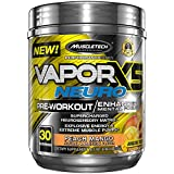 MuscleTech VaporX5 Neuro, Pre Workout Energy Plus Focus,Peach Mango, 30 Servings