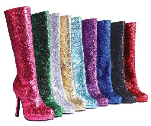 Ellie 421-zara 4 Kniehoge Laars Met Glitter Dames, Rode Glitter, 6 Maat