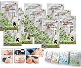 Cheap 10 Packs of Rolanjona Black Japan Green Tea Whitening Facial Mask 250g. (Remove Blackhead +Whitening Plus +Reduce Ance Scar.) Free Gift: Epistick Epilator Facial Face Hair Free Remover Stick