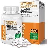 Bronson Vitamin C 1000 mg Premium Non-GMO Ascorbic Acid, 250 Tablets