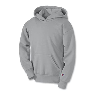 e569e383118b Image Unavailable. Image not available for. Color  Champion Youth Double  Dry Action Fleece Pullover Hood Light Steel M