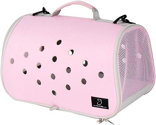 Maimai Pet out Plegable Estuche, Caja de Viaje VIP Jaula para Perros Estuche portátil para Mascotas Estuche para Mascotas Cesta para Gato (Color : Pink): Amazon.es: Productos para mascotas
